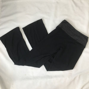 Lululemon Recognition black yoga pants gray trim